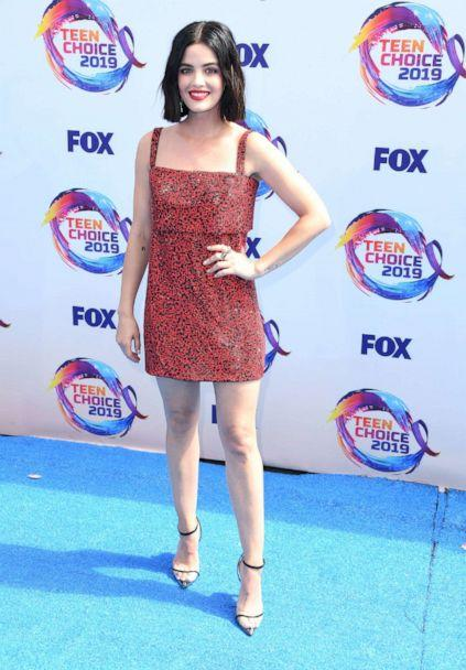 PHOTO: Lucy Hale arrives at the FOX's Teen Choice Awards 2019 on August 11, 2019 in Hermosa Beach, California. (Steve Granitz/WireImage/Getty Images)