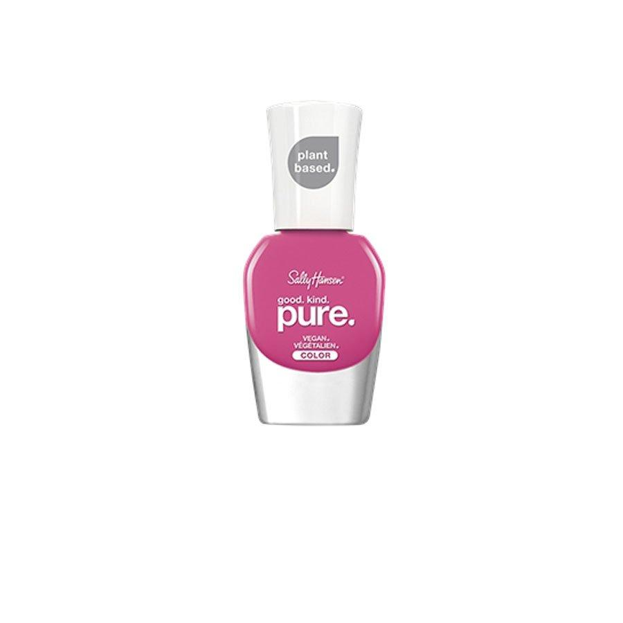 <p>You feel good about the price of a Sally Hansen nail polish whenever you pick a bottle up on a drugstore run, and now you can feel even better what's in the polish you're putting on your nails. Good.Kind.Pure is the brand's first-ever clean, vegan collection. The 16-free, plant-based formula comes in 30 colors, including this hot pink shade. </p>