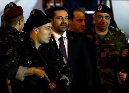Saad al Hariri is seen at Beirut's international airport in Beirut