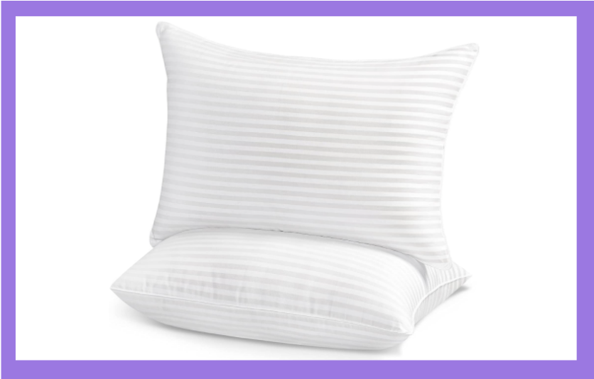 You'll rest easy on this pillow set. (Photo: Amazon)
