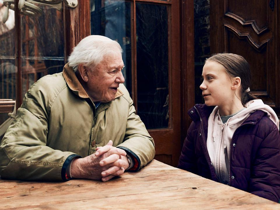 Greta Thunberg con David Attenborough (PA)