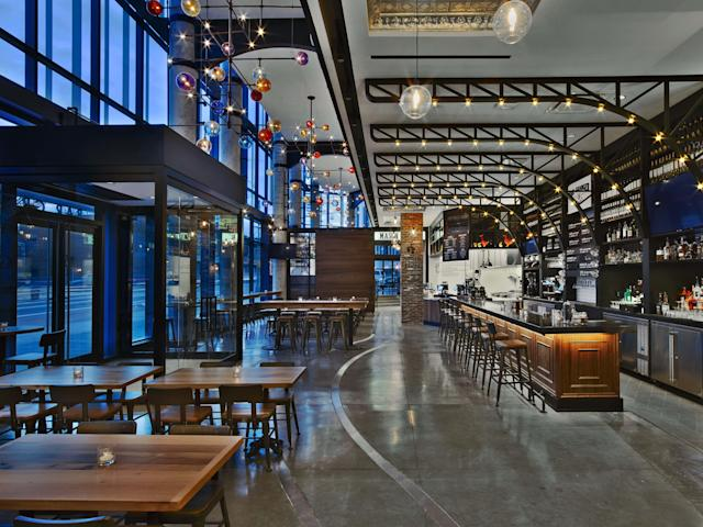 Gotham Organization's Gotham Market food hall at The Ashland in downtown Brooklyn. (photo credit: Eric Laignel)