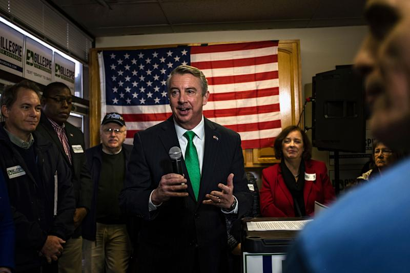 Ed Gillespie survived a tougher-than-expected primary challenge to emerge as the Republican gubernatorial nominee in Virginia.