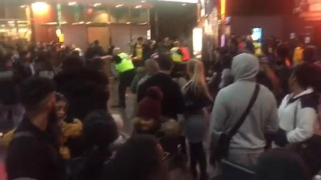 A number of police officers were assaulted when a brawl broke out at a cinema involving people with machetes (Picture: Rachel Allison/PA Wire)