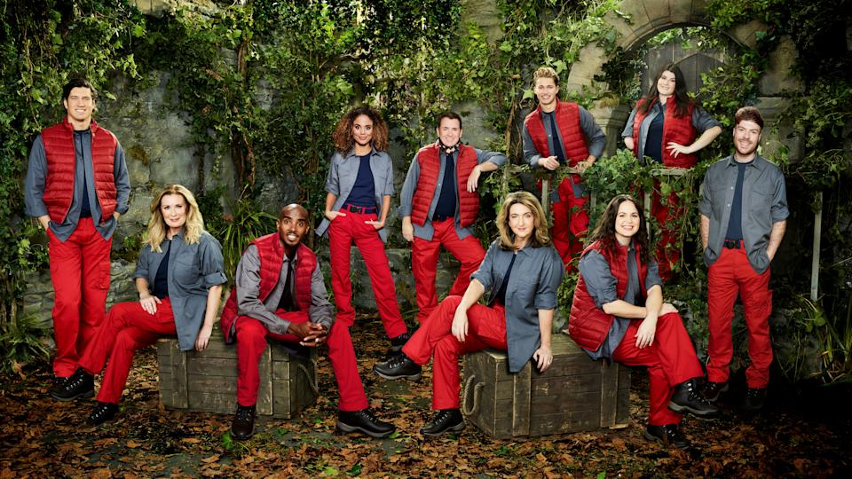The original 10 stars of this year's I'm A Celebrity (Photo: ITV)