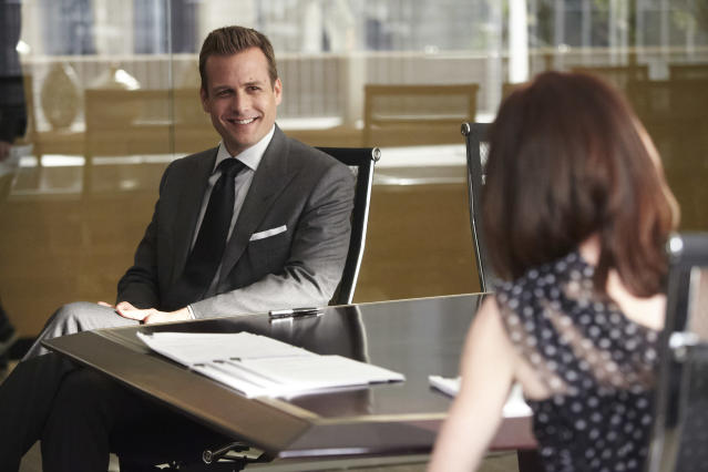 "Gabriel Macht as Harvey Specter in the ""Suits"" Season 3 episode, ""I Want You To Want Me."""