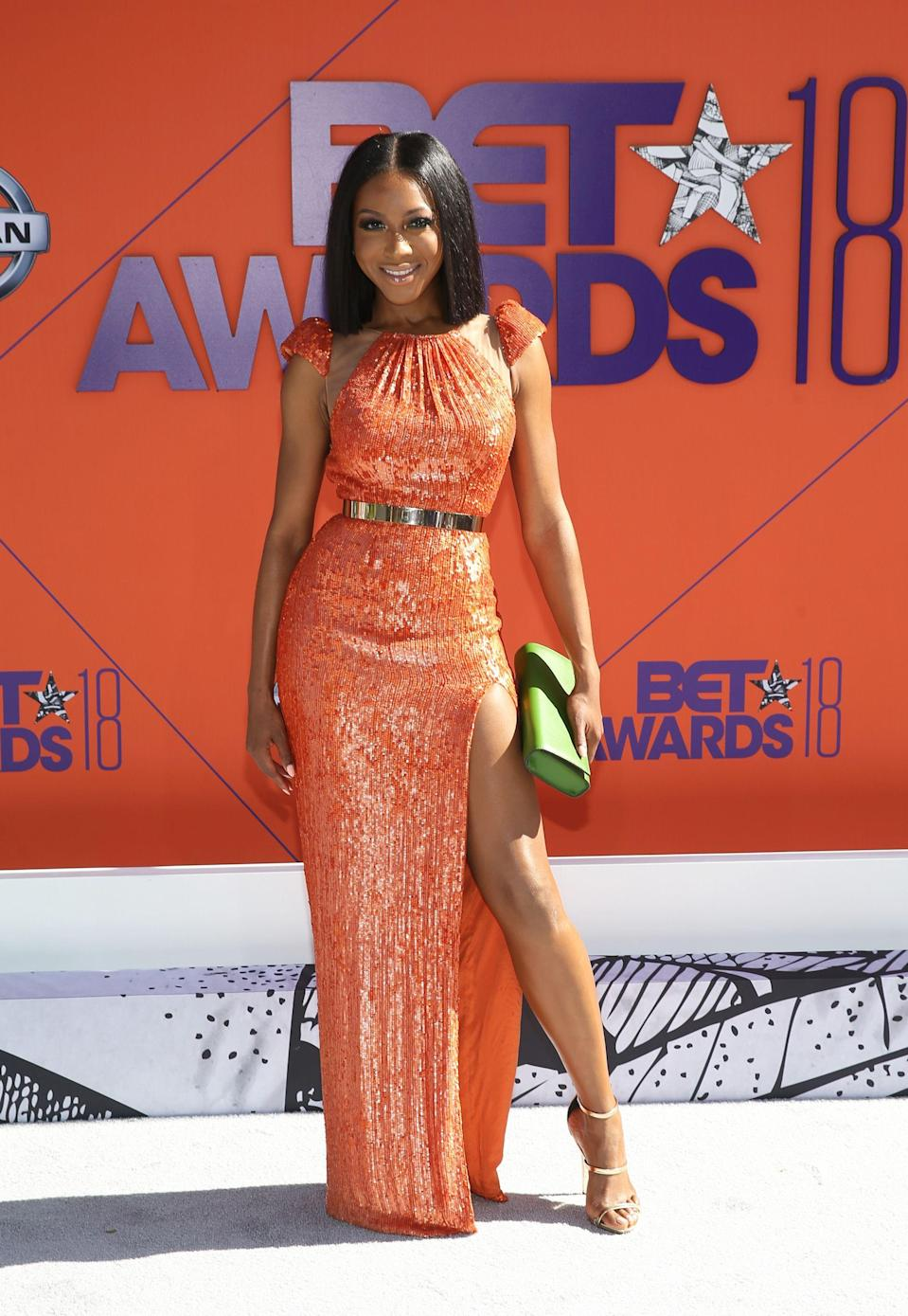 "<p><em>Luke Cage</em> star, Gabrielle Dennis, is doing orange like we've never seen before.</p><span class=""copyright"">Photo: Bennett Raglin/Getty Images.</span>"