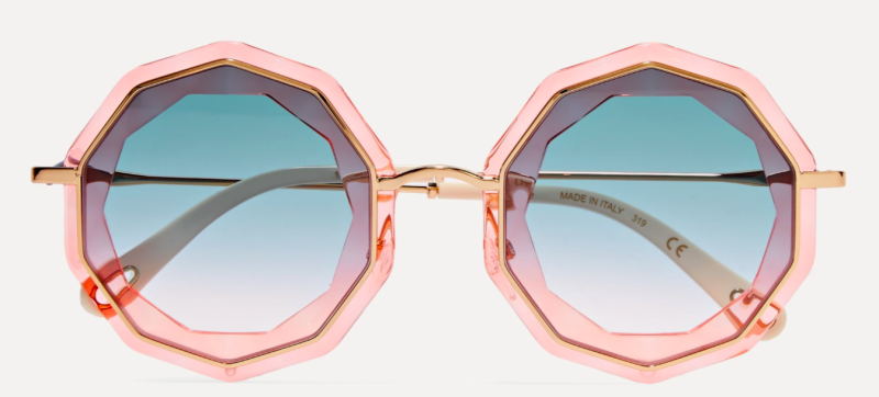 Chloe round-frame gold-tone and acetate sunglasses, 50% off, US$155.49/ Approx. SGD217 (was US$332.75). PHOTO: NET-A-PORTER