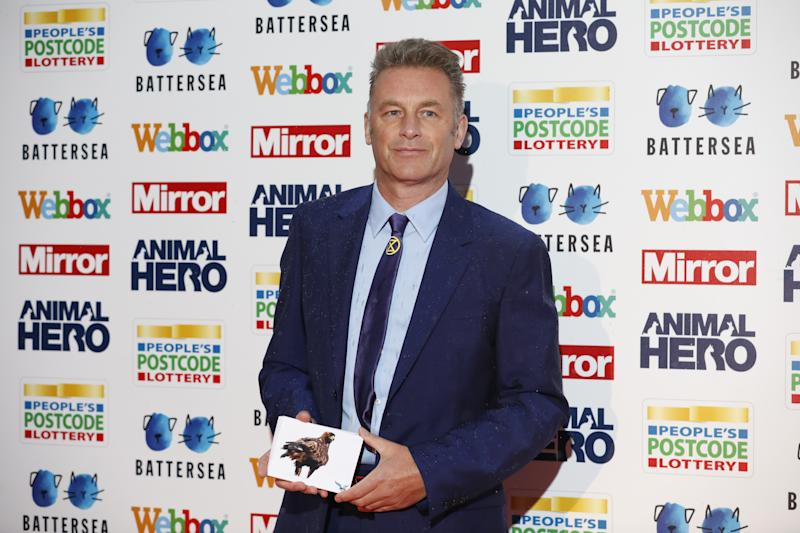 Chris Packham attending the Mirror Animal Hero Awards 2019, in partnership with People's Postcode Lottery and Webbox, held at the Grosvenor House Hotel, London. (Photo by David Parry/PA Images via Getty Images)