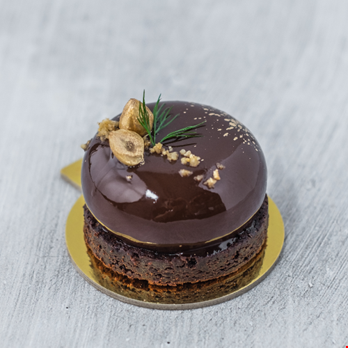 Nomtella – an espresso mousse with salted caramel, chocolate brownie and hazelnut number. (PHOTO: KOI Dessert Bar)