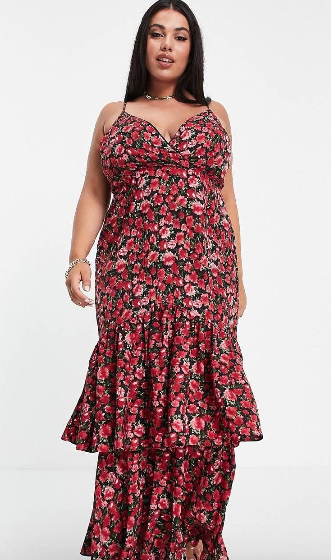 <p>A secretive Scorpio will want to entice those around them in a sexy, sleek dress, and we fell for the <span>In The Style Plus x Jac Jossa Peplum Ruffle Hem Midi Dress</span> ($64) that beautifully blends a biting style with a floral flounce. Say no more; we already added it to our shopping carts!</p>