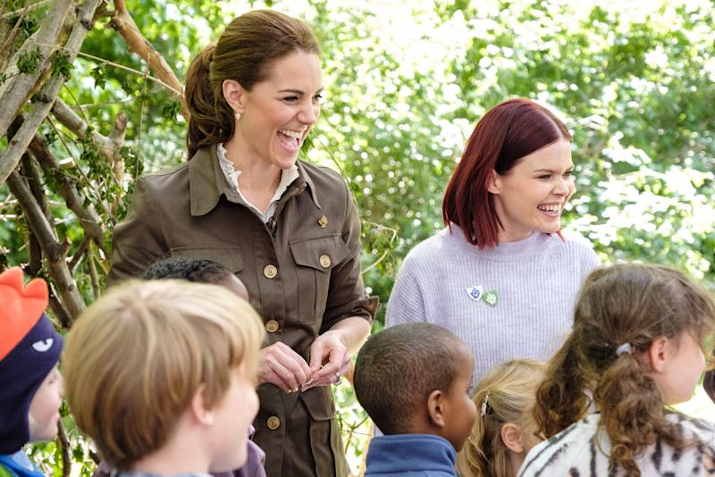 Kate joins Blue Peter presenter Lindsey Russell in the garden. [Photo: BBC]