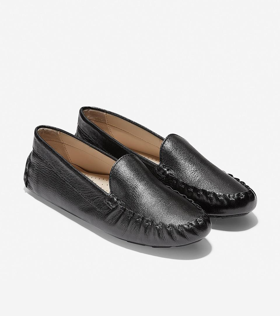 """<br><br><strong>Cole Haan</strong> Evelyn Driver, $, available at <a href=""""https://go.skimresources.com/?id=30283X879131&url=https%3A%2F%2Fwww.colehaan.com%2Fevelyn-driver-black-leather%2FW13570.html"""" rel=""""nofollow noopener"""" target=""""_blank"""" data-ylk=""""slk:Cole Haan"""" class=""""link rapid-noclick-resp"""">Cole Haan</a>"""