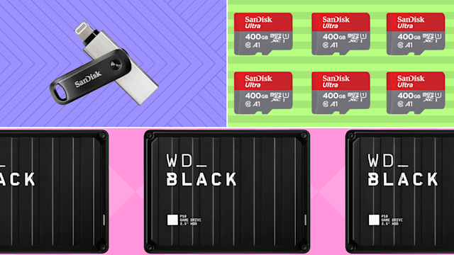 Today only: Save up to a 47 percent on SanDisk and Western Digital. (Photo: Amazon)