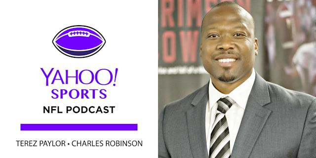 """Former <a class=""""link rapid-noclick-resp"""" href=""""/nfl/teams/dal"""" data-ylk=""""slk:Cowboys"""">Cowboys</a> and Alabama star Sherman Williams is the guest on this week's Yahoo Sports NFL Podcast"""