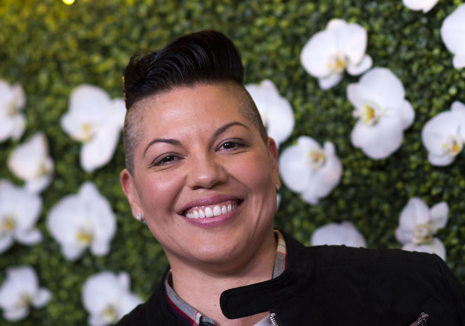Sara Ramirez at The CBS EyeSpeak Summit at the Pacific Design Center in March, 2018, in West Hollywood, California. (VALERIE MACON/AFP via Getty Images)