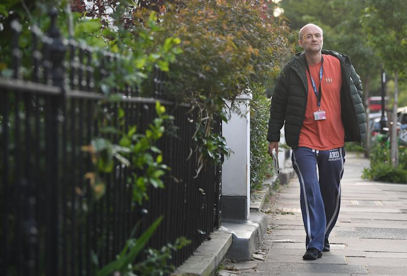 Prime Minister Boris Johnson's senior aide Dominic Cummings arriving at his north London home, as lockdown questions continue to bombard the Government after it emerged that he travelled to his parents' home despite coronavirus-related restrictions.