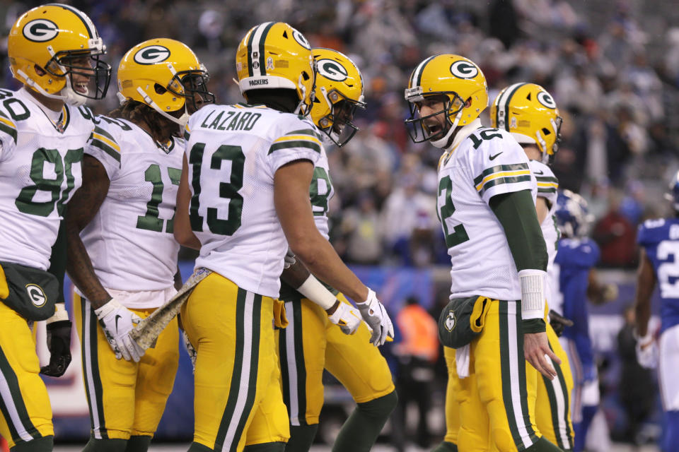 Green Bay Packers quarterback Aaron Rodgers needs some upgrades in the offense around him. (AP Photo/Adam Hunger)