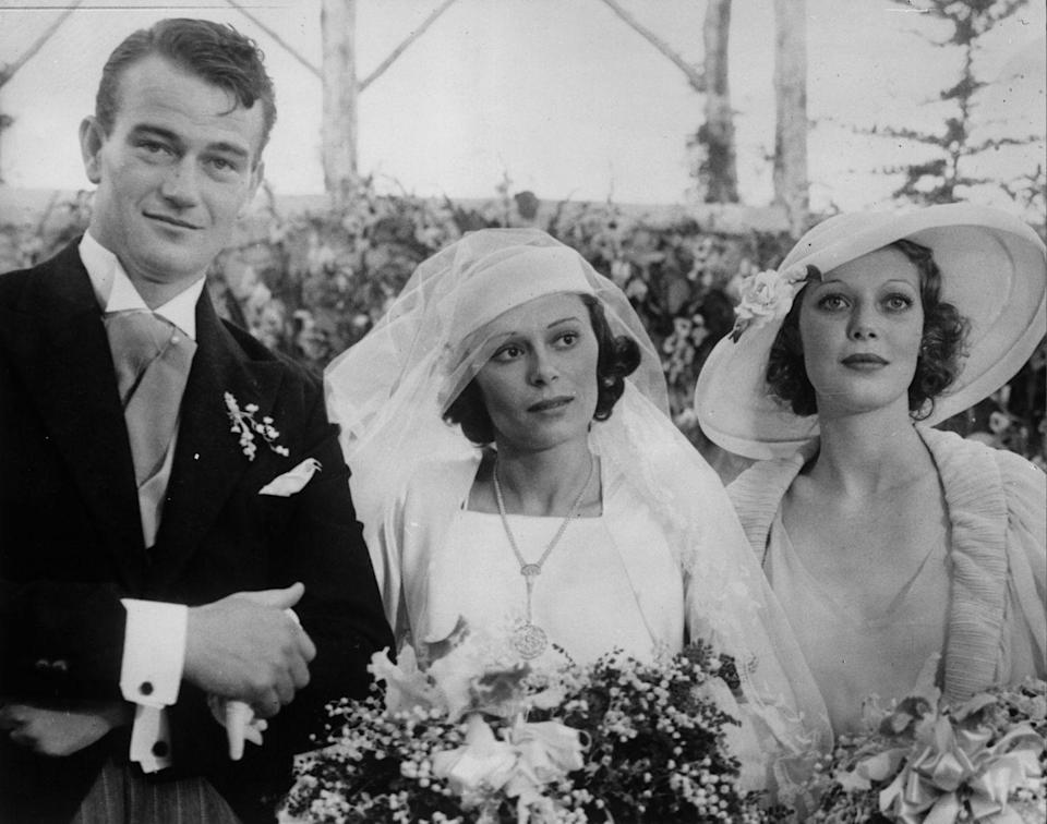 <p>Before he became the star of a slew of Westerns, John Wayne met his first wife, Josephine Saenz, the daughter of the Consul General of Panama in the U.S. After years of dating, they married on June 24, 1933, when Wayne was 26, and had four children. They divorced in 1945.</p>