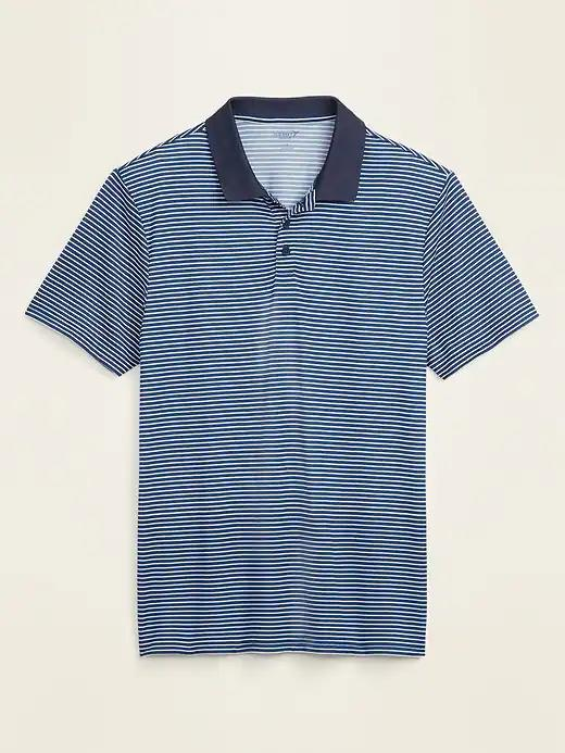 Go-Dry Cool Odor-Control Striped Core Polo. Image via Old Navy.