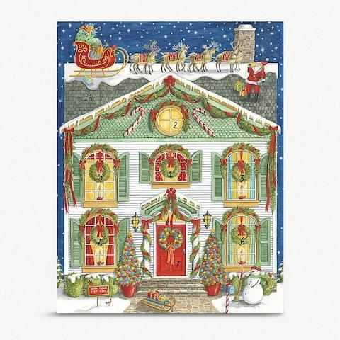 Caspari Home for Christmas Advent Calendar from Selfridges - Credit: Selfridges