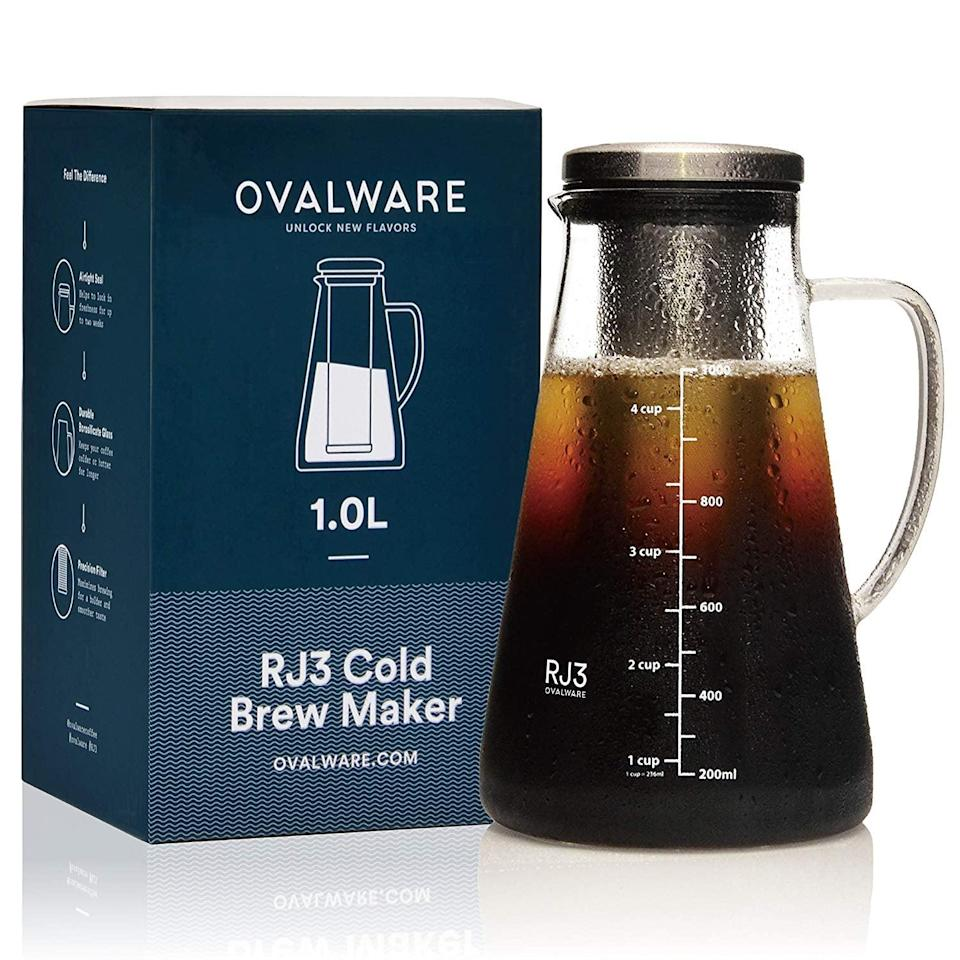 <p>Caffeine lovers will flip for this <span>Airtight Cold Brew Iced Coffee Maker and Tea Infuser with Spout</span> ($30).</p>