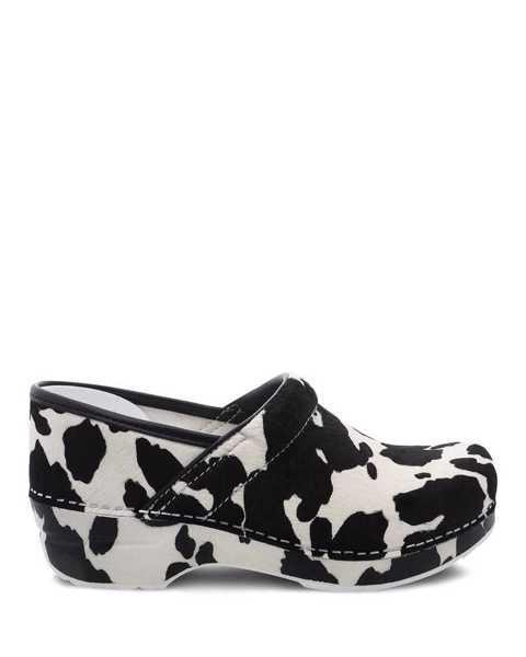"<h3><h2>Dansko Professional Clog</h2></h3><br>Our ardor for Dansko is well-documented, so we won't spend too much time on it here. (Fellow fangirls are welcome to read our endorsements of the brand's <a href=""https://www.refinery29.com/en-us/new-dansko-leopard-print-clog-zappos"" rel=""nofollow noopener"" target=""_blank"" data-ylk=""slk:limited-run leopard"" class=""link rapid-noclick-resp"">limited-run leopard</a> and <a href=""https://www.refinery29.com/en-us/2020/08/9940976/dansko-professional-clogs-review"" rel=""nofollow noopener"" target=""_blank"" data-ylk=""slk:neon-hued colorways"" class=""link rapid-noclick-resp"">neon-hued colorways</a>.) What we haven't discussed is the latest addition to their print canon — a chic pony-hair cow print with soles printed to match. However, if you're looking for a more subtle iteration, this writer recommends the <a href=""https://www.dansko.com/professional-black-patent"" rel=""nofollow noopener"" target=""_blank"" data-ylk=""slk:black patent leather"" class=""link rapid-noclick-resp"">black patent leather</a> for a look that's elevated, but still clog.<br><br><strong>Dansko</strong> Professional Cow Print Haircalf, $, available at <a href=""https://go.skimresources.com/?id=30283X879131&url=https%3A%2F%2Fwww.dansko.com%2Fprofessional-cow-print-haircalf"" rel=""nofollow noopener"" target=""_blank"" data-ylk=""slk:Dansko"" class=""link rapid-noclick-resp"">Dansko</a>"