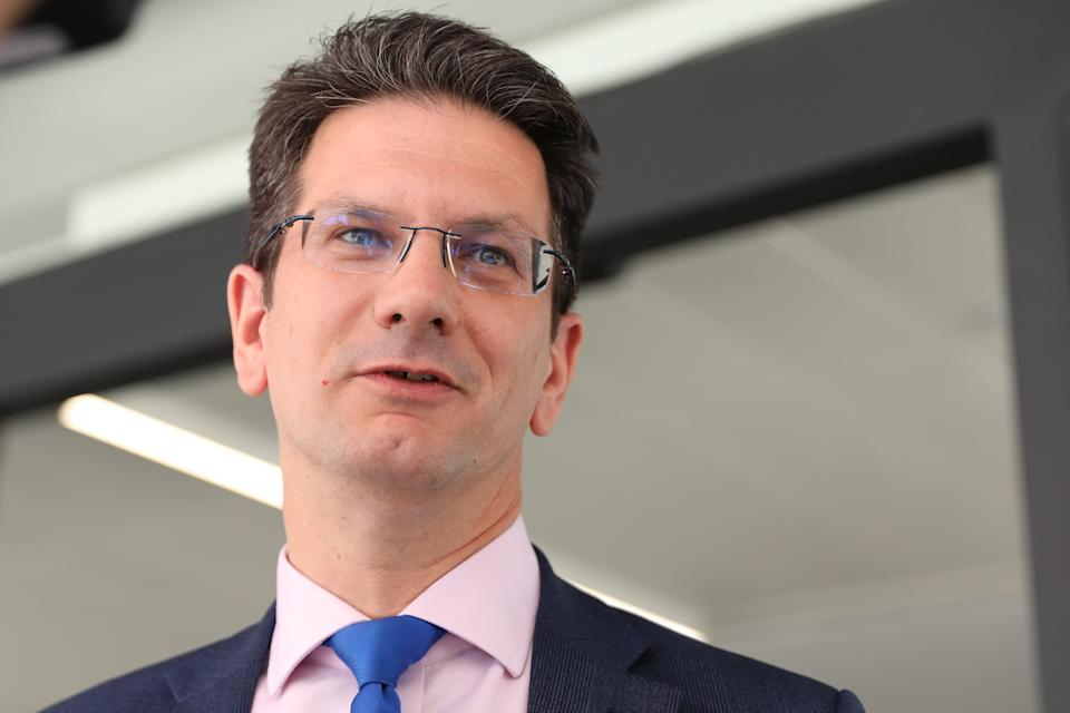 "Conservative MP Steve Baker leaves an event where Boris Johnson was annouced as the new leader of the Conservative Party in central London on July 23, 2019. - Boris Johnson vowed on Tuesday to ""get Brexit done"" by the twice-delayed October 31 deadline, after defeating Foreign Secretary Jeremy Hunt in the race to become next British premier. (Photo by ISABEL INFANTES / AFP)        (Photo credit should read ISABEL INFANTES/AFP via Getty Images)"