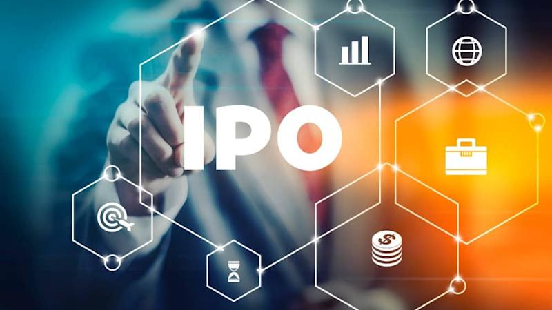 Initial Public Offering (IPO) concept image, businessman selecting stock trading interface