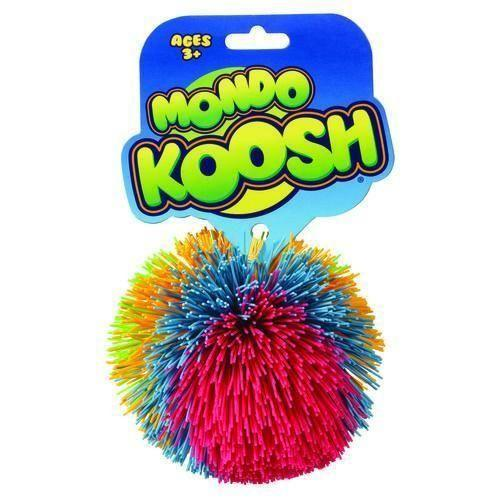 """<p><strong><em>Koosh Ball Mondo Edition</em></strong><strong><em>, $12</em></strong> <a class=""""link rapid-noclick-resp"""" href=""""https://www.amazon.com/Koosh-Ball-Mondo-Larger-Colors/dp/B004XONZME/?tag=syn-yahoo-20&ascsubtag=%5Bartid%7C10050.g.35033504%5Bsrc%7Cyahoo-us"""" rel=""""nofollow noopener"""" target=""""_blank"""" data-ylk=""""slk:BUY NOW"""">BUY NOW</a></p><p>Who knew a little rubber ball could be so <em>fun</em>? A toy ball made of rubber strings attached to a soft rubber core, the Koosh ball was a 1980s staple. They're even used today to help children develop motor skills.</p>"""