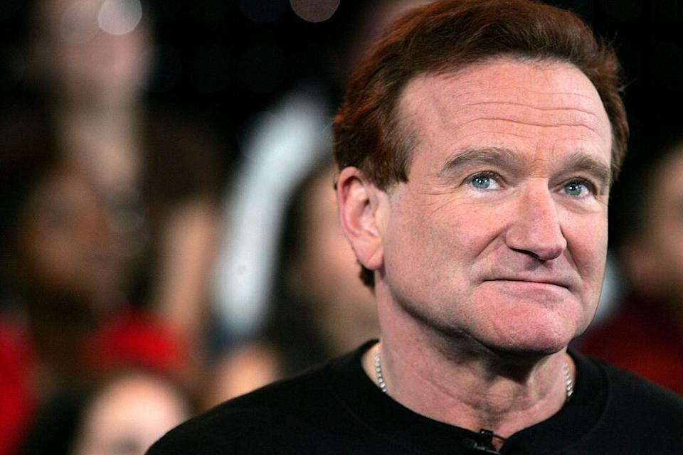 FILE PHOTO Actor Robin Williams appears onstage during MTV's Total Request Live at the MTV Times Square Studios
