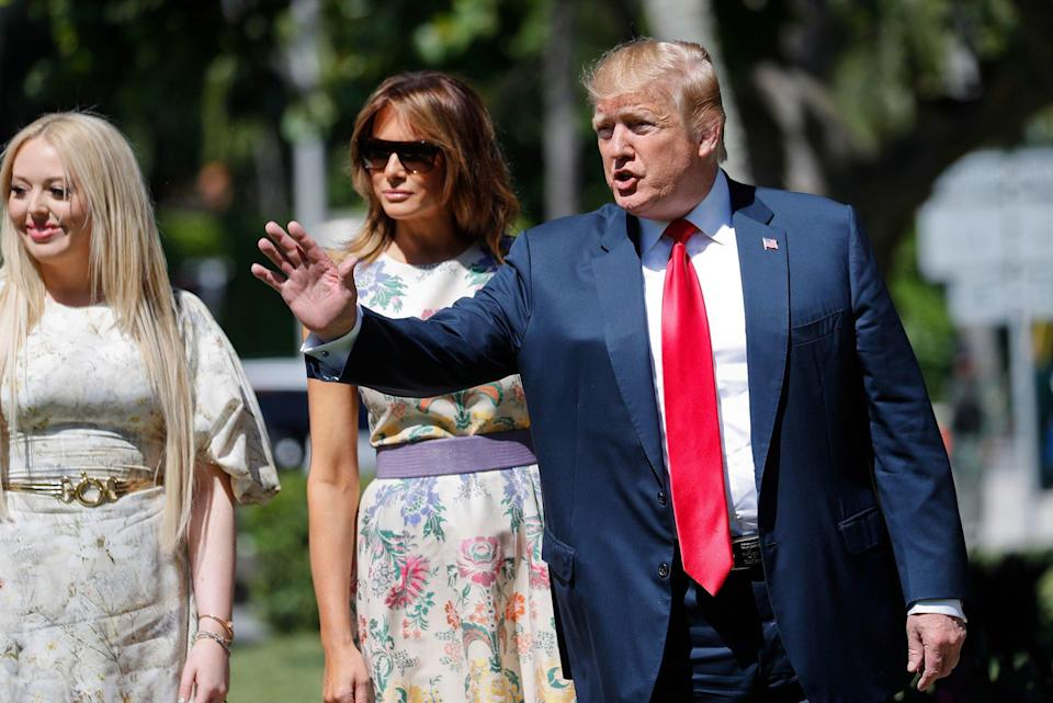 Donald, Melania at Mar-a-Lago for Easter After Mueller
