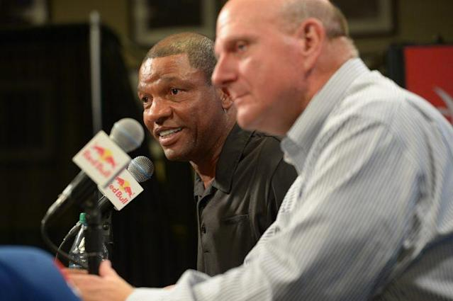 Doc Rivers will no longer be in charge of both the team on the court and the front office. (Getty)