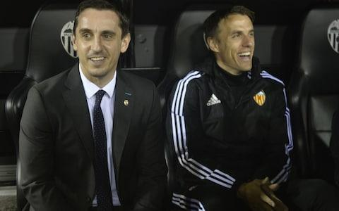 "Phil Neville has emerged as the leading candidate to become the next permanent manager of the England Women's football team. The Football Association is stepping up its efforts to find a full-time successor to Mark Sampson, who was sacked in September for an 'inappropriate relationship' with a former player at Bristol City, and following separate allegations by Eniola Aluko. Mo Marley was put in temporary charge, but it is understood former Manchester United and England defender Neville is now the favourite to land the permanent post following productive talks with the FA. Talking to BBC Radio 5 Live, Chelsea left-back Claire Rafferty suggested Neville is under consideration by saying: ""Phil Neville's in the running for it."" She added that she did not know how much truth there is to the rumour, but Telegraph Sport understands Neville is interested in the post and is now keen to finalise an agreement. Mo Marley is in temporary charge of England Women Credit: PA Marley, who has overseen 4-0 and 5-0 World Cup qualifying victories over Bosnia and Kazakhstan, has also applied for the full-time job and FA chief executive Martin Glenn this week explained why the process has taken so long by saying: ""We absolutely want to get the right person. We have got great ambitions for the women's team. ""We believe we can win the World Cup so we have to get the right person with the right set of skills. ""We are lucky we have had a great interim in Mo Marley, so that has allowed us to spend that bit more time to make sure we are assessing all of the talent across the world."" Neville has held coaching positions at Manchester United and Valencia, and is keen to find the right opportunity to find a way into management, despite thriving in his work in the media. His sister Tracey is the head coach of England's netball team and his brother Gary was part of Roy Hodgson's backroom staff with the England men's team. Phil Neville (right) coached at Valencia with his brother, Gary Credit: AFP England Women are ranked third in the world and are second in the World Cup qualifying group, a point behind Wales with a game in hand and the two sides face each other on April 6. Neville would comfortably be the highest-profile male to coach a women's team, although Neil Redfearn became the first former English Football League first-team manager to take charge of a women's side after being appointed by Doncaster Rovers Belles last month. Redfearn previously managed Leeds United and Rotherham United before moving into women's football. On the switch, Redfearn said: ""Even though people might think you are jumping from men's football to women's football, the fact of the matter is that it is irrelevant. ""These are elite players, elite athletes within their environment. I think the standard is unbelievably good. Women's football in general is on an upward curve. It is a real opportunity for a coach to go and learn how other players learn and try to ply your trade at this level."""