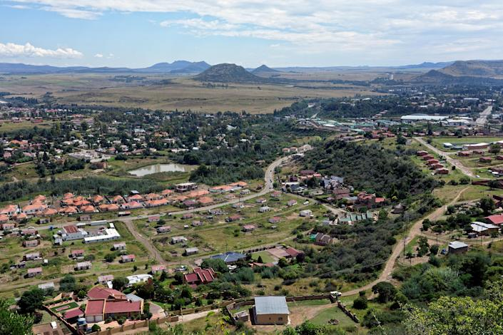"An aerial view of central Maseru, the capital of Lesotho.<span class=""copyright"">Lindokuhle Sobekwa—Magnum Photos for TIME</span>"