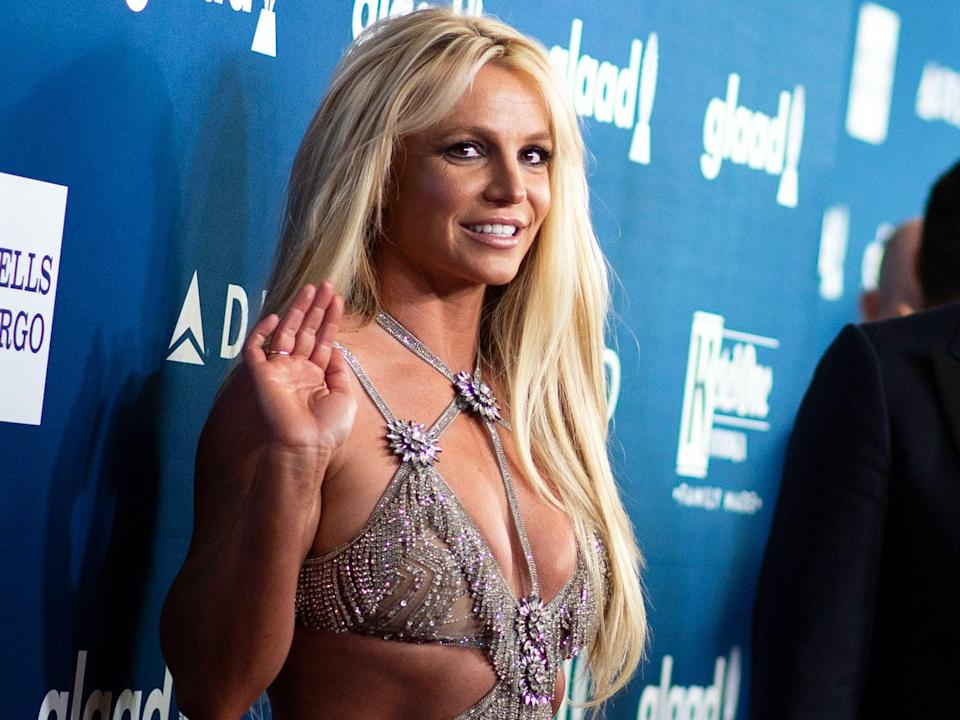 Britney Spears at the GLAAD Media Awards on 12 April 2018 in Beverly Hills, California (VALERIE MACON/AFP via Getty Images)