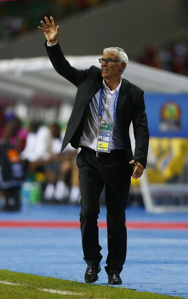 Football Soccer - African Cup of Nations - Final - Egypt v Cameroon - Stade d'Angondjé - Libreville, Gabon - 5/2/17 Egypt coach Hector Cuper Reuters / Amr Abdallah Dalsh Livepic