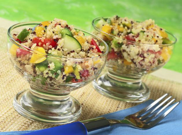 <b>Quinoa</b> <br>Curbing hunger is as easy as piling your plate with this whole grain. It packs both fiber (2.6 grams per 1/2 cup) and protein, a stellar nutrient combo that can keep you satisfied for hours, Krieger says. <br><b> Eat more</b> Serve quinoa instead of rice with stir-fries, or try Krieger's take on a scrumptious hot breakfast: Cook 1/2 cup quinoa in 2/3 cup water and 1/3 cup orange juice for 15 minutes. Top with 1 tbsp each of raisins and chopped walnuts.