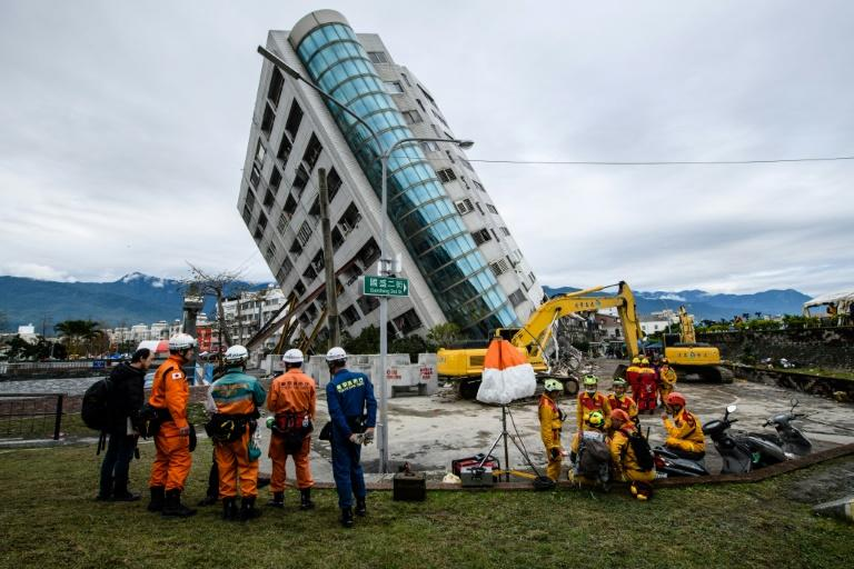 Nine of the 12 people killed in the quake perished in the Yun Tsui building, which was left leaning precariously
