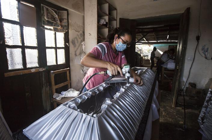 A coffin-maker in southern Mexico.