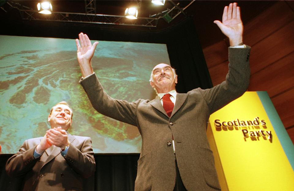 Sean Connery campaigned with Alex Salmond in the run-up to the 1999 Scottish Parliament election (Ben Curtis/PA)