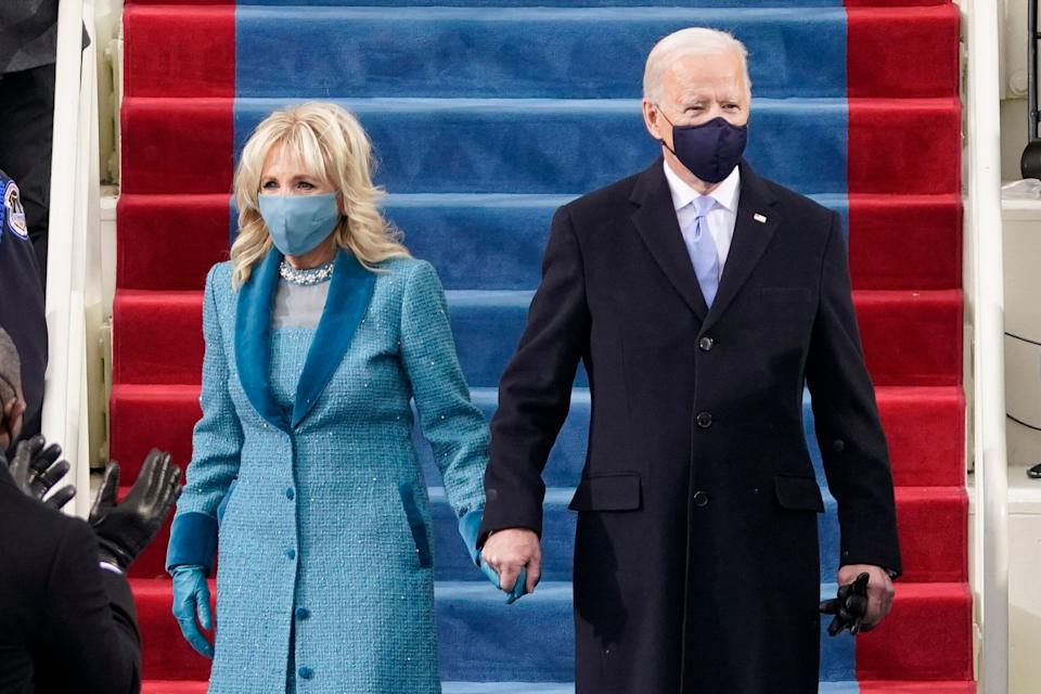 US President Joe Biden and his wife Dr. Jill Biden at the inauguration ceremony on Jan. 20, 2021. (Photo: PATRICK SEMANSKY via Getty Images)