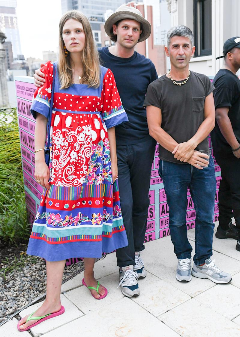 Andre Saraiva and Caroline Brasch Nielsen attend the Sweetgreen x André Saraiva dinner in New York City.