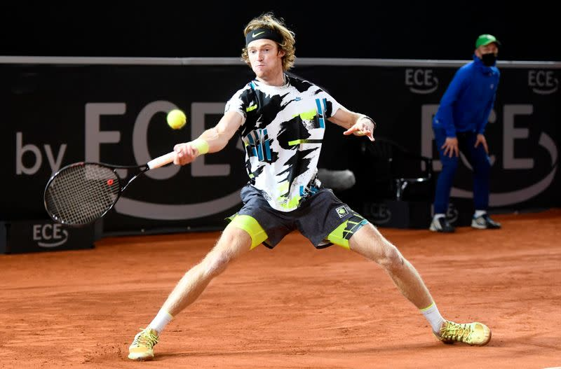 Rublev back from brink to beat Querrey in five