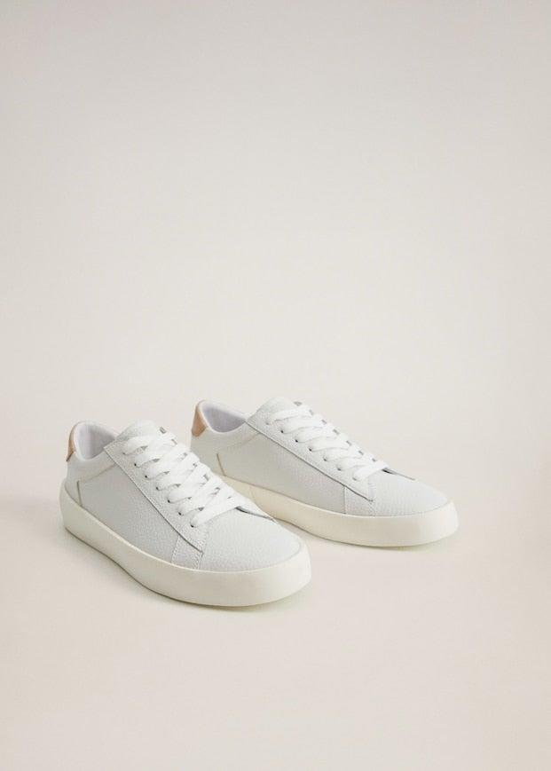 "<br><br><strong>Mango</strong> Lace-up leather sneakers, $, available at <a href=""https://go.skimresources.com/?id=30283X879131&url=https%3A%2F%2Fshop.mango.com%2Fus%2Fwomen%2Fshoes%2Flace-up-leather-sneakers_77040526.html"" rel=""nofollow noopener"" target=""_blank"" data-ylk=""slk:Mango"" class=""link rapid-noclick-resp"">Mango</a>"