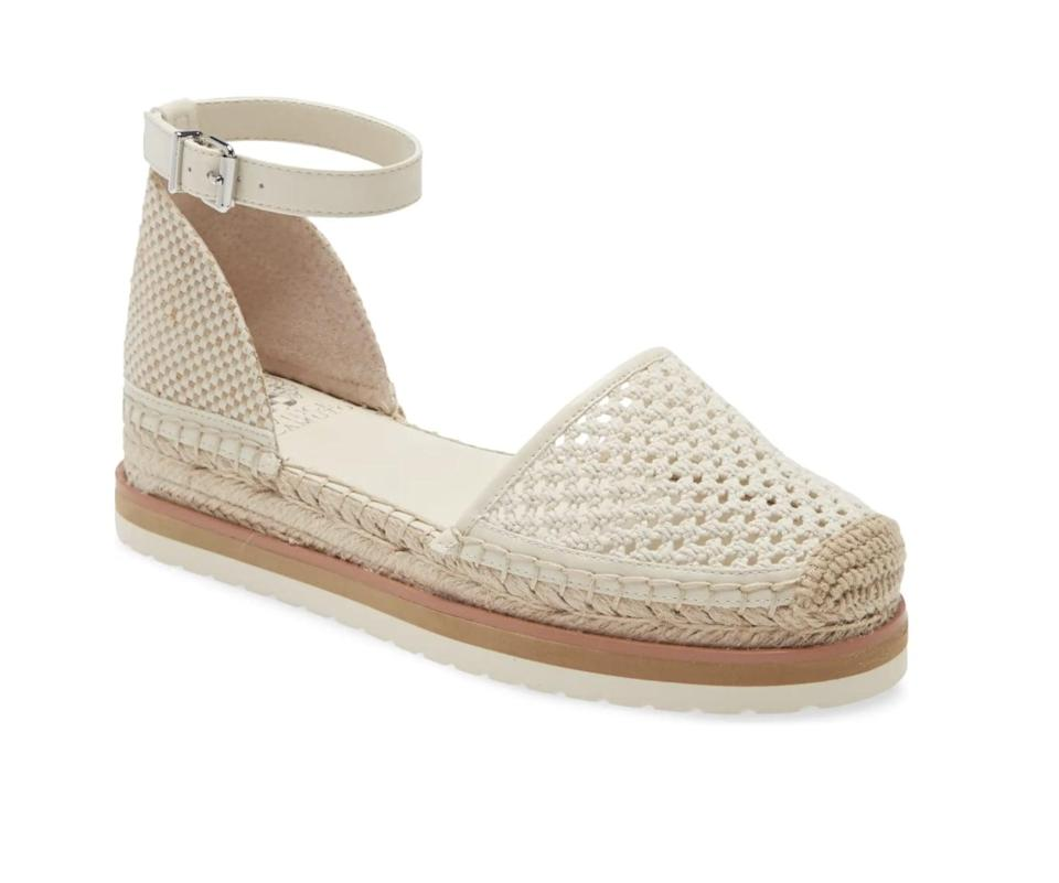 <p>This <span>Vince Camuto Binettie Platform Espadrille</span> ($67, originally $111) is decorative and chic, making it suitable for virtually all occasions.</p>