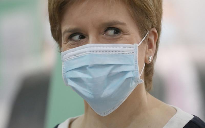 The First Minister repeatedly claimed prevalence of the virus was five times higher in England than Scotland - Andrew Milligan / Getty Images Europe