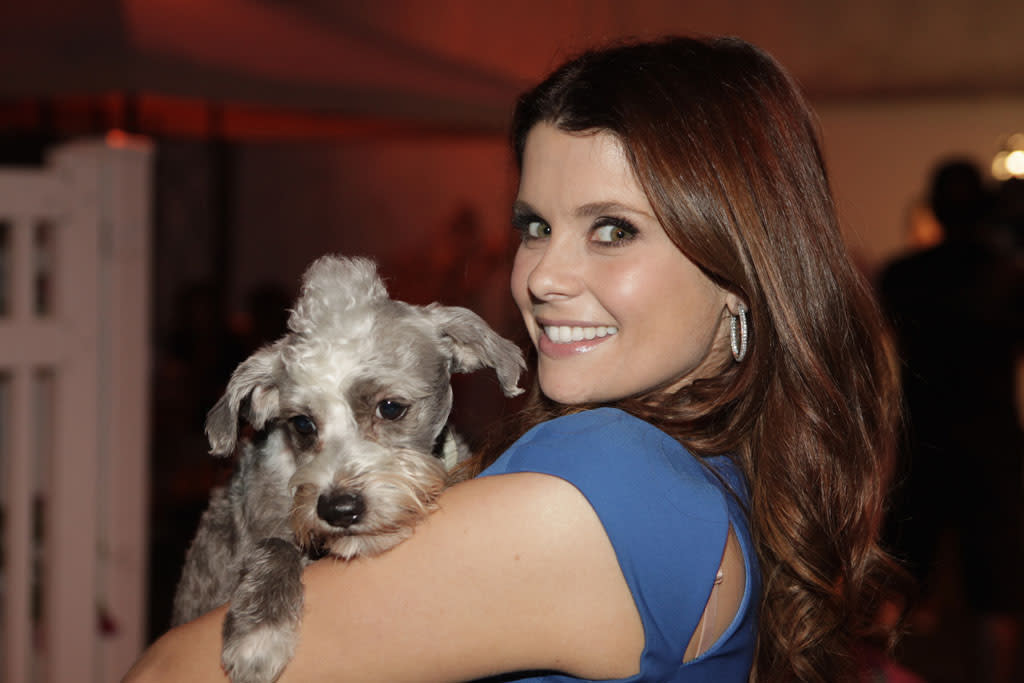 """<p class=""""MsoNormal"""">Garcia Swisher brought her 3-year-old pup Cooper as her date to the event. In addition to Cooper, Garcia and her husband, New York Yankees player Nick Swisher, are also parents to Hooper's sister and two chihuahuas. """"Yes, we have four dogs. We are wild and crazy. We have a little group of misfits. And we have a horse,"""" she tells Yahoo! TV. """"They're bicoastal. We live in New York and L.A. and we also have a home in Florida, so they are all over the place with us."""" </p>"""