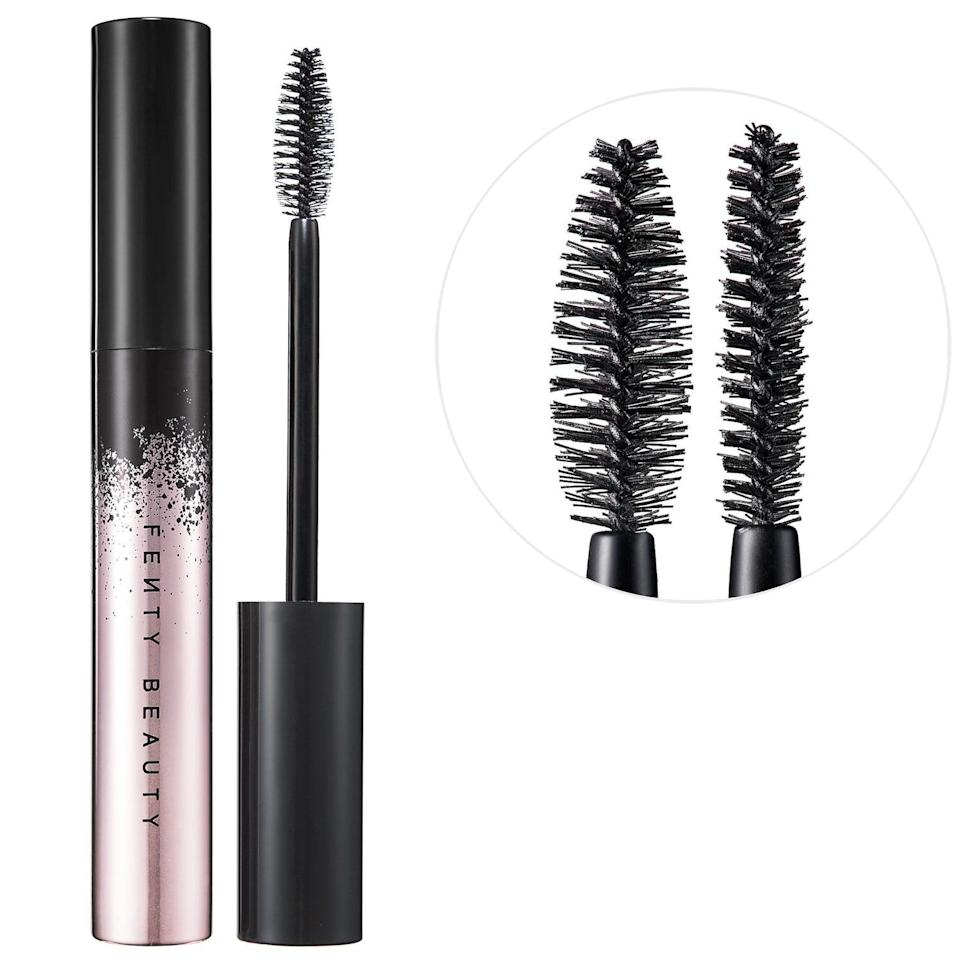 <p><span>Fenty Beauty Full Frontal Volume, Lift &amp; Curl Mascara</span> ($24) comes with a two-sided brush that both lifts the lashes and enhances curls.</p>