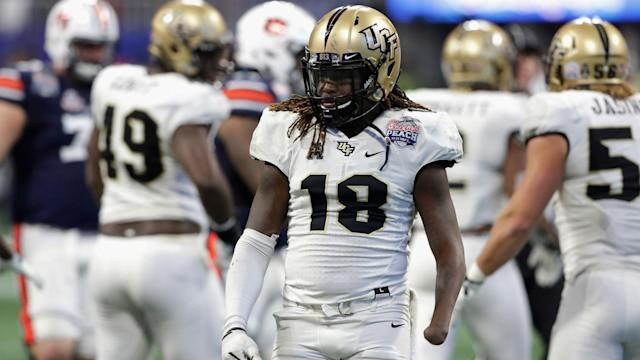 Shaquem Griffin, appearing at the NFL Scouting Combine with a prosthetic arm, posted the fastest dash time for a linebacker since 2003.